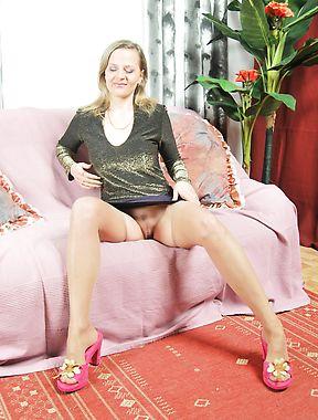 Blonde mature ass licking