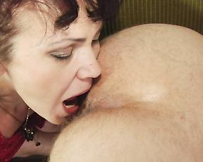 Tight mature feels a lot of dick in her fanny