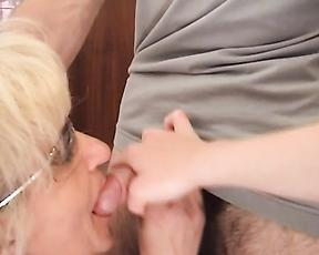 Tight mature feels young meat in her warm pussy