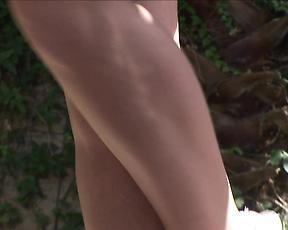 Sexy brunette milf in hot back yard anal scenes