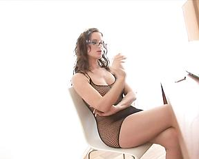 Smoking milf gets fucked hard at the office
