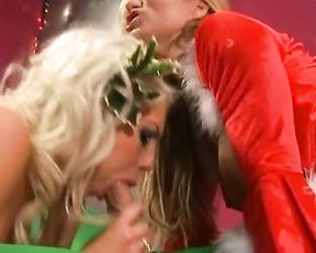 Milfs fuck on Christmas even like real slut