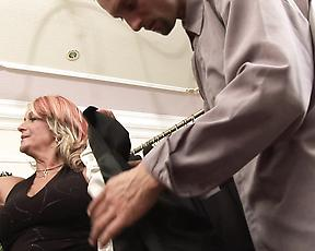 Granny finally gets the cock she always dreamed off