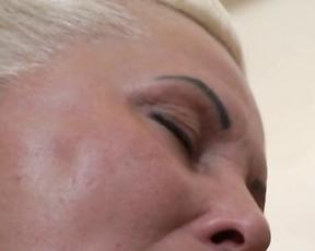 Mature with saggy tits gets pussy fucked merciless