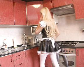 Tight maid leaves the master to ass fuck her a lot