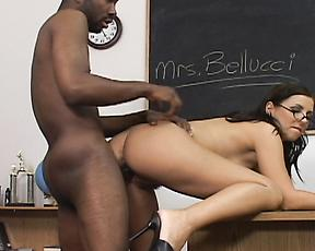 Classroom interracial hardcore with the big ass teacher