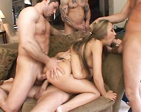 Amateur milf group fucked by a bunch of men
