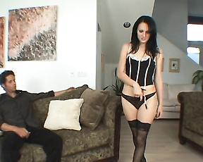 Horny Victoria Sin stands for a big dick