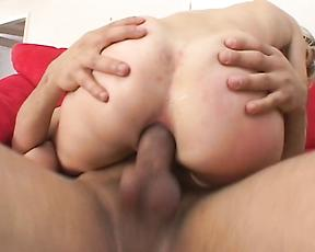 Severe anal stimulation for sexy Angela Stone