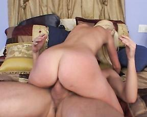 Blonde milf rides cock with her ass in insane modes