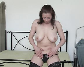 Milf with big tits, supreme home fingering in solo XXX