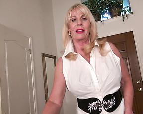 Clothed granny masturbates in scenes of passionate solo