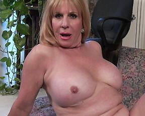 Pure quality granny solo with a fine ass mature on fire