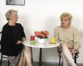 Lesbian grannies are having a wild time masturbating