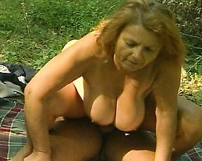 Busty mature gets fucked hard and made to swallow